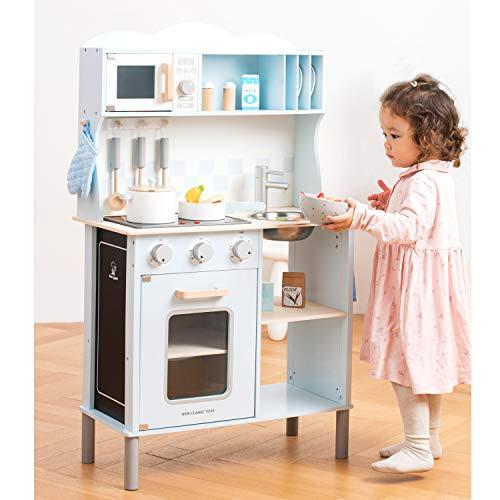 New Classic Toys 11065 Küchenzeile-Modern mit Kochfeld Multi Color – hier in Blau - 7