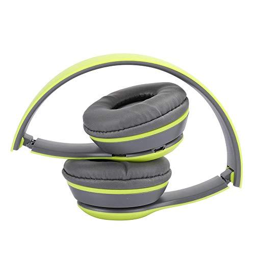 kerstcadeauCaiqinlen Geschenken voor Familie Stereo Geluid Ruisonderdrukking Opvouwbare Headset, FM Muziek Oortje Game Oortje, Opvouwbaar voor Mobiele Telefoons Laptops (groen)
