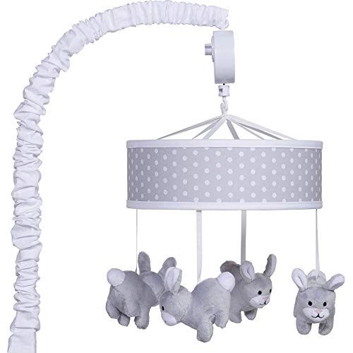 Trend Lab Bunny Musical Mobile, Gray/Wh
