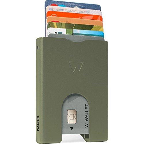 Walter Wallet Aluminum Cardholder Wallet | Olive Green