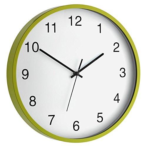 TFA Reloj de Pared electrónico Verde de 300 mm, Multicolor