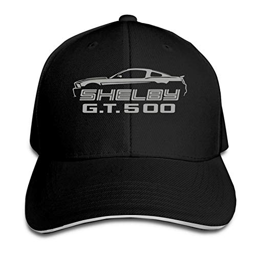 Shelby Gt500 Mustang Classic Silver Color Design Cool Adult Denim Hat with Outdoor Casual Sports Casquette