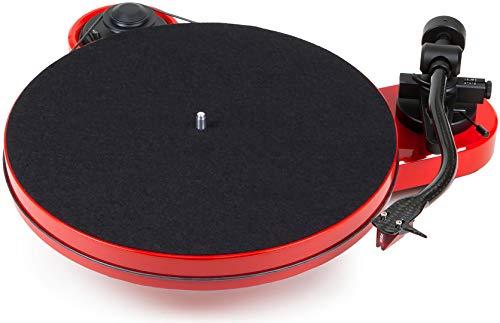 Pro-Ject RPM 1 Audio- - Plattenspieler (Audio-Plattenspieler mit Riemenantrieb, Schwarz, Rot, 33,45 RPM, -71 dB, 0,14%, 21,9 cm)