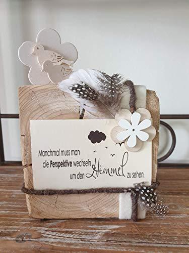 Spruchwürfel, Holzbilder, Lebensweisheit, Geschenk, Aufmunterung