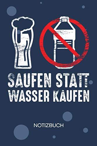 NOTIZBUCH A5 Blanko: Trinker SKIZZENBUCH - 120 Seiten für Notizen Skizzen Zeichnungen - Saufparty Notizheft Bier - Saufen Geschenk für Biertrinker Bierliebhaber Säufer