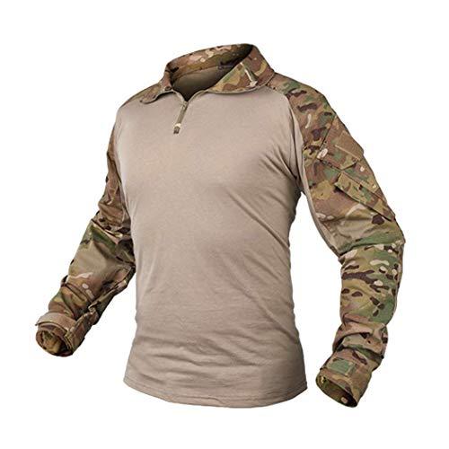 IDOGEAR Men's G3 Combat Shirt Multicam Tactical Airsoft Military Camo Clothing (Multicam,X-Large)