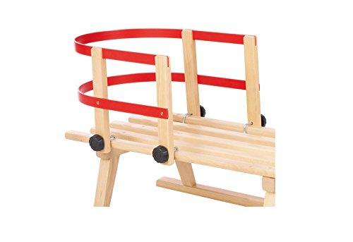 Pinolino Rückenlehne aus Holz und Kunststoff, passend für Pinolino Schlitten, max. Belastung 20 kg, für Kinder von 1 bis 3 Jahren
