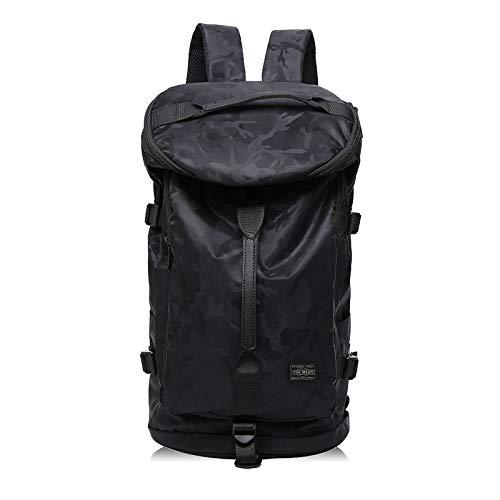 バックパック男性と女性36 L登山バックパック大容量防水リュックサック屋外旅行荷物スポーツフィットネスバッグ (カモフラージュブラック)