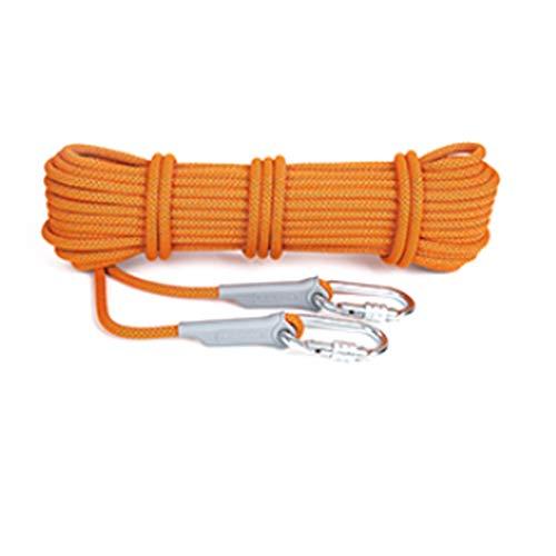 LYM-Rope Kletterseil, Durchmesser 12 Mm Luftarbeit Verschleißfeste Klimaanlage Installation Outdoor Safety Rescue Cord (Farbe : Orange, größe : 20m)