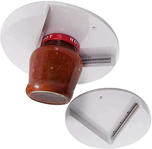 Under Cabinet Jar Opener, Grip Jar Opener,Under Cabinet Jar Lid & Bottle Opener,Jar Opener Tool Engineered for All Size Jars(1 PC)