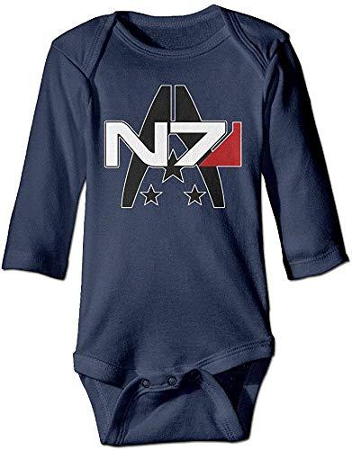 SADODER GOOOET Mass Effect Alliance N7 Baby Climbing Long Sleeve Bodysuit 6-12 Month Navy