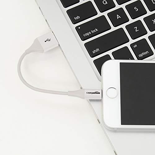 Amazon Basics Lightning auf USB A Kabel, Apple MFi Zertifiziert - 0,9 m, 1er Pack - Weiß