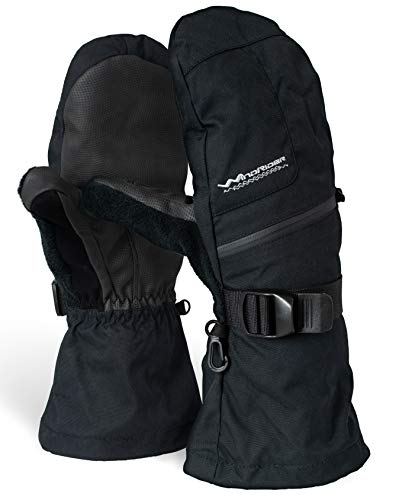 Rugged Waterproof Winter Mittens | Extra Long Gauntlets | Snowboard, Ski, Ice Fishing, Mittens |...
