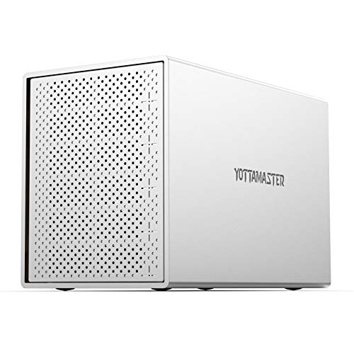 Yottamaster Aluminium 5 Fach RAID FestplattenGehäuse, Externe USB 3.0 HDD Gehäuse für 3.5