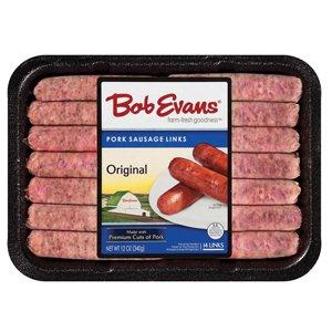 Bob Evans Original Pork Sausage Links 12 Oz (6 Pack)