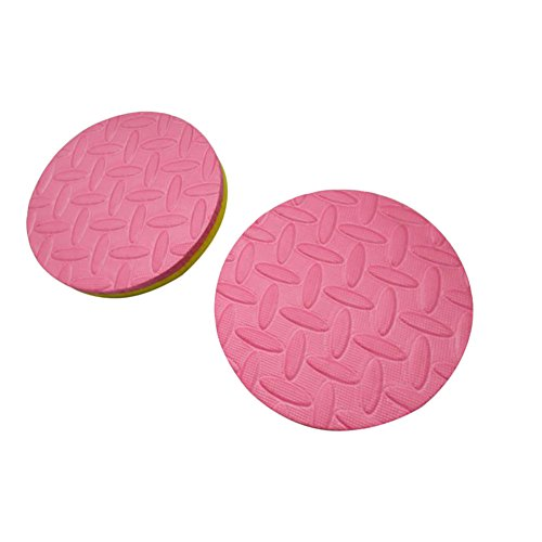 Gsdviyh36 2Pcs 2 Color Knee Elbow Pad Yoga Round Mats Fitness Plank Gym Protective Cushion, Thickening Non-Slip, AbsorbSweat and Antisepsis, Multifunction Yellow + Pink