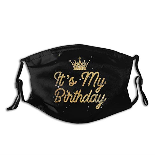 It'S My Birthday Printed Face Mask, Decorative|Adjustable, With 2 Filters For Men And Women Balaclava Bandana Cloth
