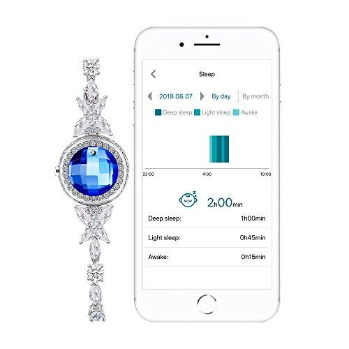Activity tracker Pedometer Bracelet Calorie Counter Sterling Silver Jewellry Swarovski Jewelry