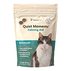 NaturVet Quiet Moments Calming Aid with Melatonin for Cats