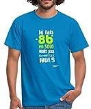 Spreadshirt Cotation en Escalade 8b T-Shirt Homme, L, Bleu Royal
