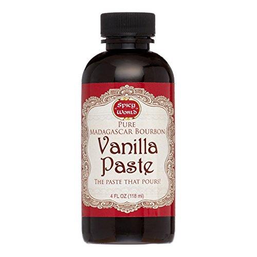 Spicy World Madagascar Bourbon Pure Vanilla Paste 4 Oz - The Paste That Pours!
