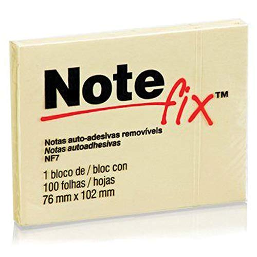 Bloco De Recado Notefix, 76x102mm, Amarelo, 100 Folhas, 3M