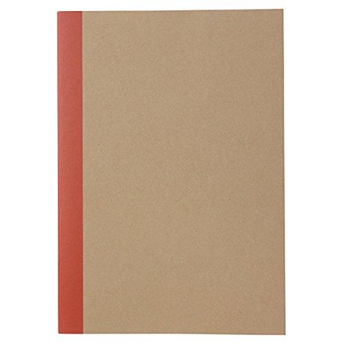 Muji Cuaderno de papel reciclado A5, 30 páginas, sin reglas, color beige