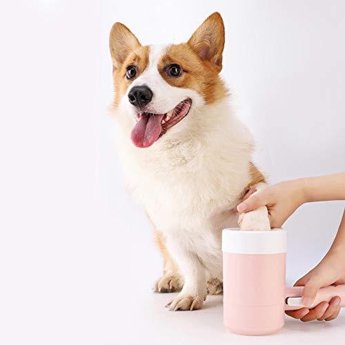Hundepfoten Reiniger Klein, Pet Dog Paw Cleaner, Hundepfotenreinigung, Haustier Hunde Pfotenreiniger 360 ° -Drehung Ohne Totwinkel - 18 X 8 Cm