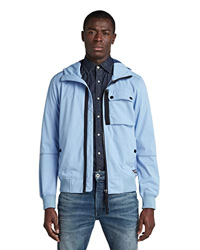 G-STAR RAW Mens Desert Storm Softshell Shell Jacket, Delta Blue/Imperial Blue C082-c259, M