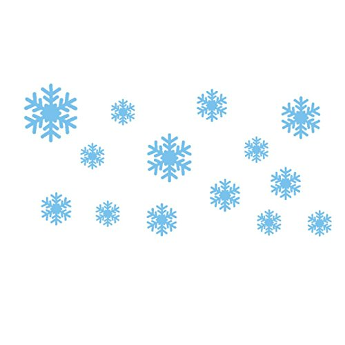 Transer Wall Stickers, Wall Sticker 30 * 60CM New Wall Sticker Frozen Snow Flakes Vinyl Art Wall Quote Decal Sticker Removable Wall Stickers (Blue)