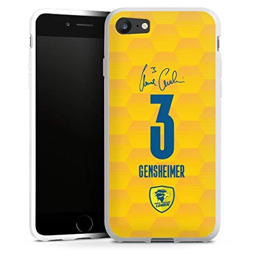 DeinDesign Silikon Hülle kompatibel mit Apple iPhone 8 Case weiß Handyhülle Rhein-Neckar-Löwen Handball Gensheimer