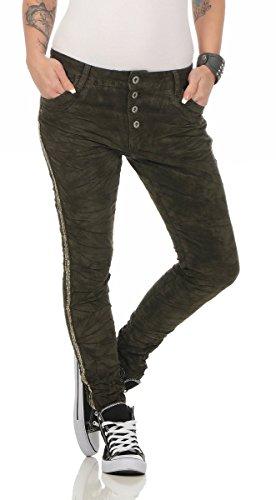 Lexxury 10470 Coole Damen Hose Jeans Cordjeans