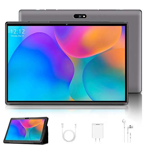 4G LTE Tablet PC 10 pulgadas, Android 9.0 Certificado por Google GMS, 3 GB de RAM 32 GB ROM 8000 mAh Quad Core, Dual Cámara Tablet Soporte WiFi, Bluetooth, GPS, OTG – Gris