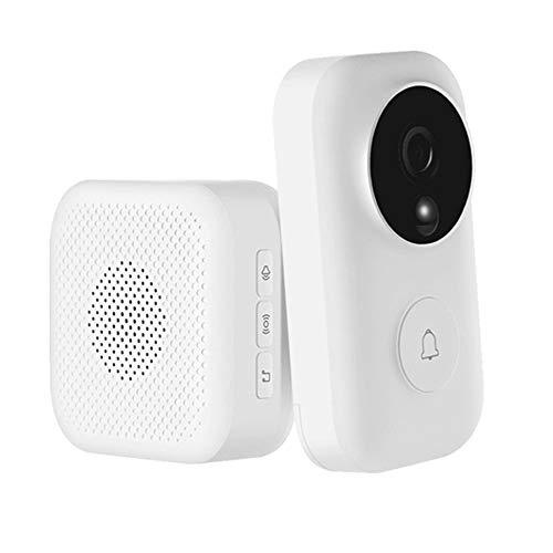 Xiaomi Null AI Gesichtserkennung 720P IR-Nachtsicht Video drahtlose Wifi Türklingel Set Motion Detection Intercom Empfänger - Weiß