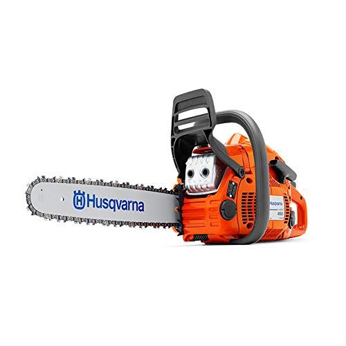 Husqvarna 450 II E Series 50.2cc 18 Inch Gas Powered Chainsaw with Powerbox Case