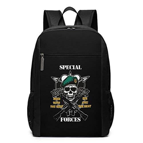 ZYWL Army Special Forces Laptop Rucksack, Reiserucksäcke School College Bookbag für Frauen und Männer 17 Zoll