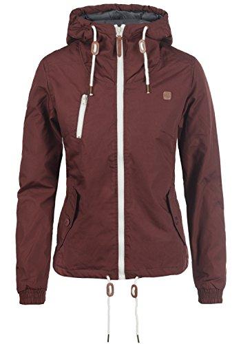 DESIRES Tilda Damen Übergangsjacke Jacke gefüttert mit Kapuze, Größe:L, Farbe:Wine Red (0985)