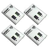 HQRP Four Batteries Compatible with Motorola M53617, KEBT-086-A, KEBT-086-B, KEBT-086-C, KEBT-086-D + HQRP Coaster