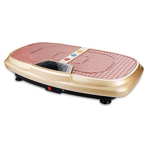 B/H Ultra Slim Power Vibrationsplatte,Fettlifting-Maschine, Gewichtsverlust Fitness-Maschine-Golden,Vibrationsplatte Leicht zu Bedienen