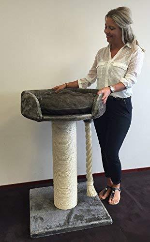 Rascador para gatos grandes Chartreux Gris Topo arbol xxl maine coon gato gigante muebles sofa casa escalador casita torre Árboles rascadores cama cueva repuesto medianos