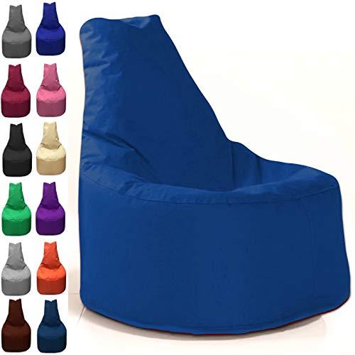 Sitzbag Sitzsack Sessel XL - XXL für Kinder und Erwachsene - In & Outdoor Sitzsäcke Kissen Sofa Hocker Sitzkissen Bodenkissen (XL - 68cm Durchmesser, Blau)