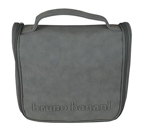bruno banani Kulturtasche Kulturbeutel Kosmetiktasche zum Aufhängen Grau 7225