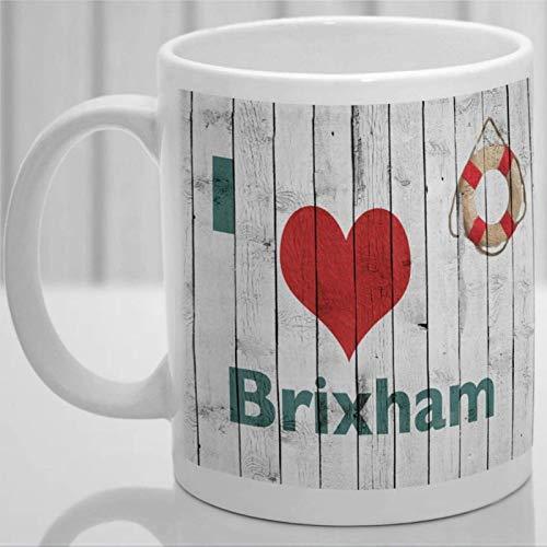 Taza de café personalizada de Brixham Remember Devon, taza de cerámica de 11 oz, taza de té para bebidas para el hogar y la oficina, cumpleaños, aniversario, Halloween, día de San Valentín, idea actua