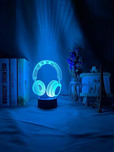 Lámpara De Ilusión 3D, Luz De Noche LED, Auriculares Ful Ativos Para Decoración De Habitación, Luz De Noche, Luz De Sueño Para Niños, Regalo Para Niñas Y Niños