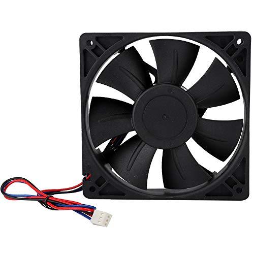 Cuque Ventilador de enfriamiento de CC, práctico Ventilador de enfriamiento Industrial portátil de 3000 RPM, Ventilador de enfriamiento de máquina de minería Industrial liviano de 4.7 x 4.7 x 1.0