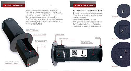 Fuerte blindino caja Seguridad Invisible corazzata–Varios Tamaños Disponibles, diámetro agujero pared 140mm