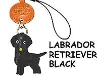 本革 携帯犬ストラップ プチワンチャン ラブラドールレトリーバー ブラック 【VANCA】【日本製 職人によるハンドメイド】