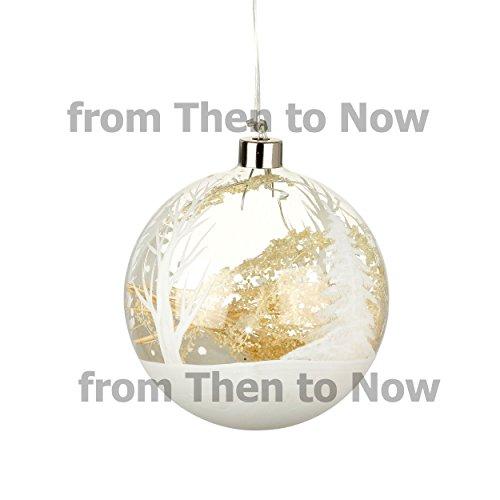 Bola de Navidad con luz LED grande para colgar en el árbol de Navidad