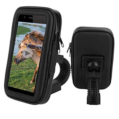 Bolsa de montaje para teléfono de bicicleta giratoria de 360 °, impermeable, motocicleta, bicicleta, teléfono, navegación, GPS, soporte, bolsa, soporte, funda