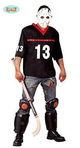Hockey-Spieler Halloween Kostüm für Herren Halloween Horror Killer Gr. M/L, Größe:M